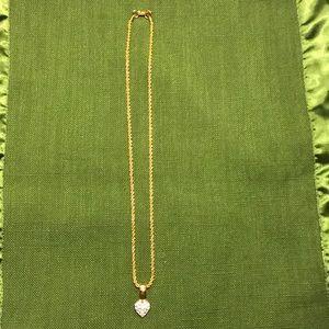 Swarovski Gold Tone heart necklace